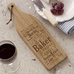 Family Sharing Wine Bottle Cutting Board L813428X