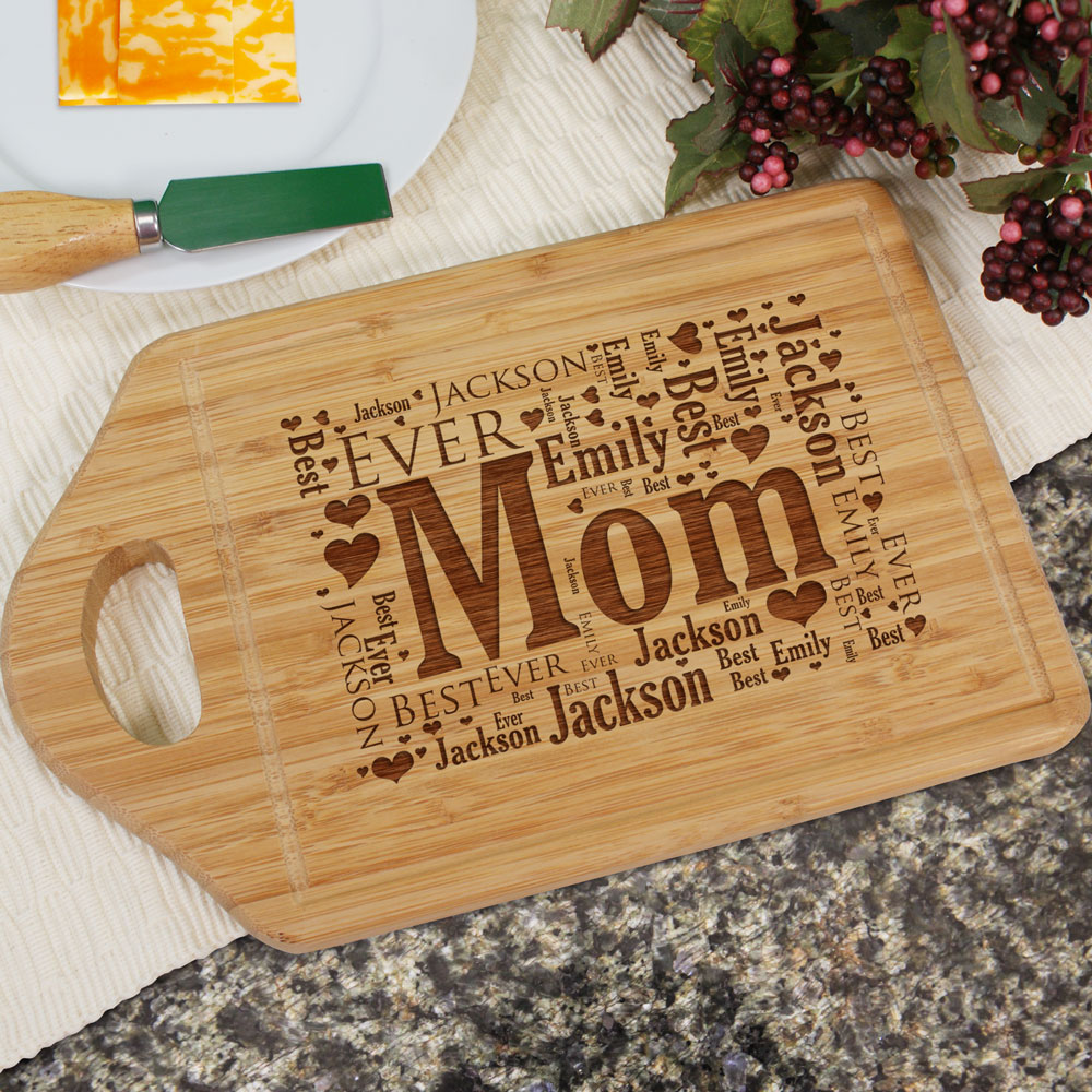 Engraved Established In Bamboo Cheese Carving Board | Personalized Gifts for Mom