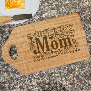 Engraved Established In Bamboo Cheese Carving Board L621630