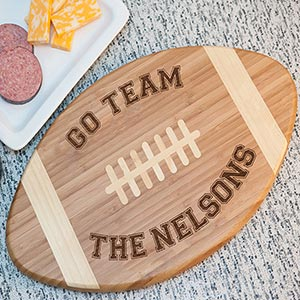Engraved Football Cutting Board | Personalized Cutting Boards