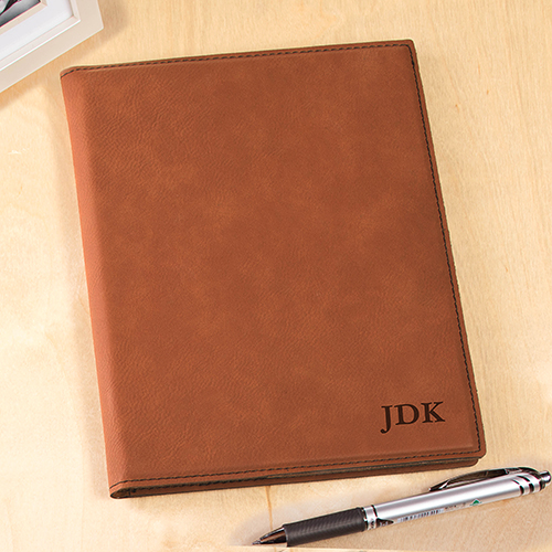 Monogrammed Rawhide Leatherette Portfolio | Personalized Business Gifts