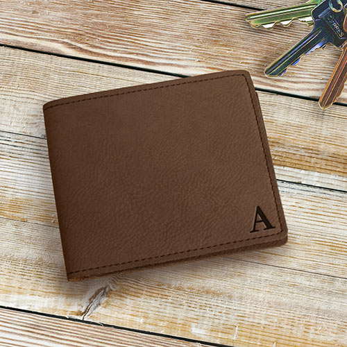 Personalized Monogram Bi-Fold Wallet