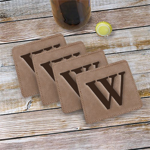 Single Initial Engraved Coasters L9852131