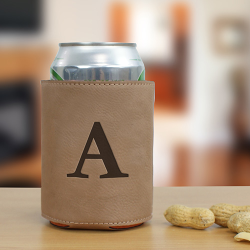 Single Initial Engraved Beverage Holder