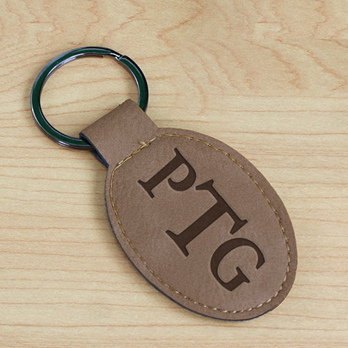 Classic Monogram Engraved Keychain