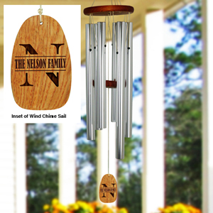 Personalized Family Initial Wind Chime| Personalized Wind Chimes
