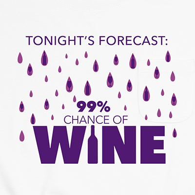 Tonight's Wine Forecast Pocket T-Shirt PT311313X