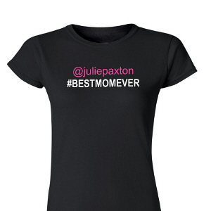 Personalized Best Mom Womens T-Shirt