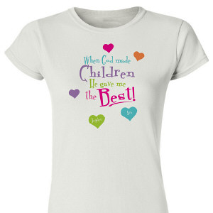 God Gave Me the Best Personalized Womens T-Shirt