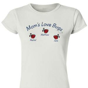 Love Bugs Personalized Womens T-Shirt