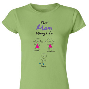 Belongs To... Personalized Womens T-Shirt