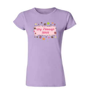 Personalized Floral Retro Custom Womens T-Shirt