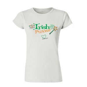 Irish Princess Pesonalized Womens T-Shirt