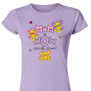 Mom is Wow Personalized Ladies' Fitted T-Shirt 91387X