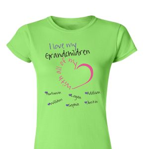 Personalized With All My Heart Womens T-Shirt