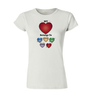 Personalized My Heart Belongs To Womens T-Shirt
