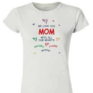All Our Hearts Personalized Womens T-shirt