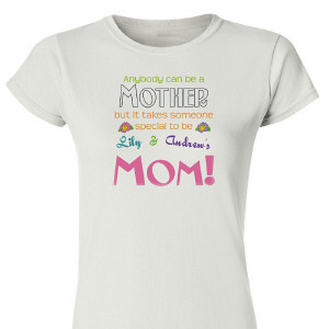 Anybody Can Be A Mother Personalized Ladies' Fitted T-Shirt 91717X