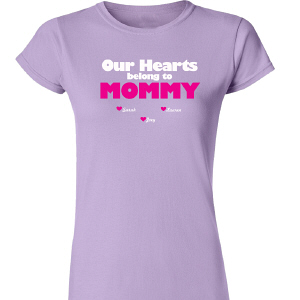 Personalized Our Hearts Womens T-Shirt