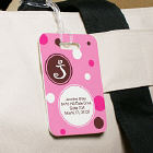 Personalized Polka Dot Luggage Tag