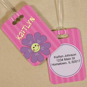 Personalized Flower Bag Tag