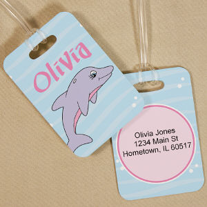 Personalized Dolphin Bag Tag
