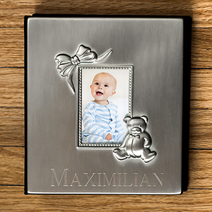 Engraved Silver Baby Photo Album M000110
