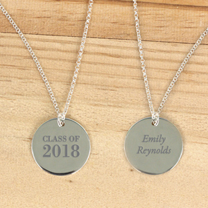 Personalized Silver Graduation Pendant | Personalized Graduation Gifts