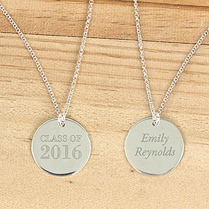 Personalized Silver Graduation Pendant