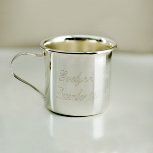 Engraved Silver Baby Sippy Cup | Silver Baby Cup