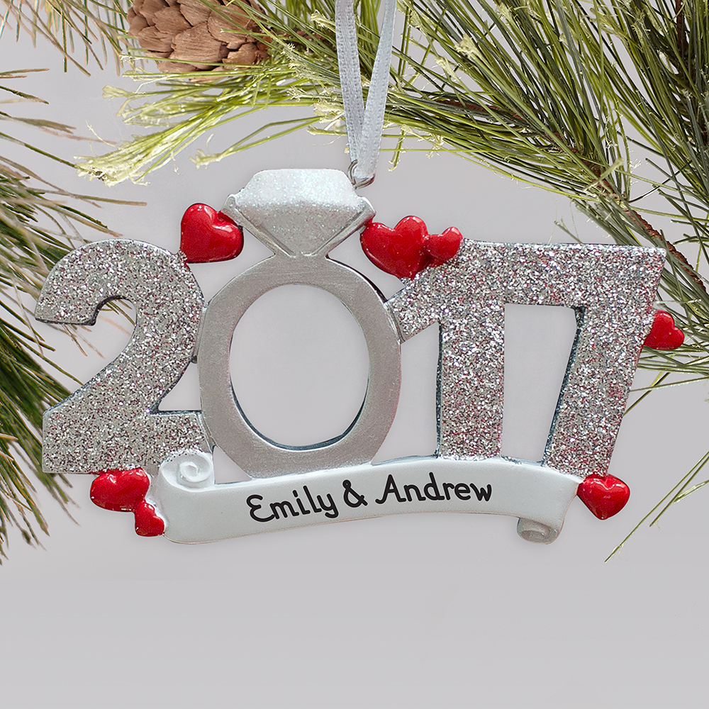 Personalized 2018 Engagement Ornament| Personalized Engagement Ornaments