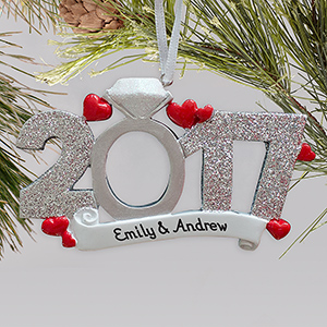 Personalized 2017 Engagement Ornament| Personalized Engagement Ornaments