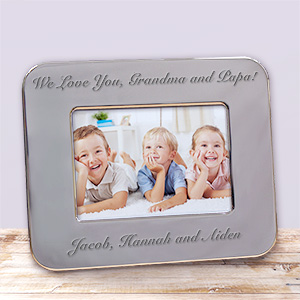 Engraved Custom Message Silver Picture Frame M34832X