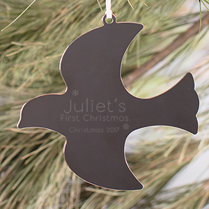 Engraved First Christmas Dove Ornament M798028