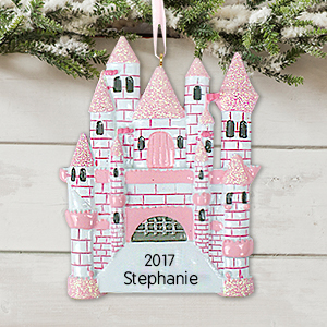 Castle Ornament | Personalized Christmas Ornaments For Kids