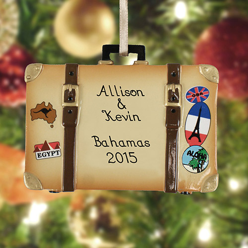 Personalized Vacation Suitcase Ornament