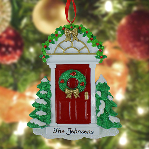 Personalized Red Door Ornament