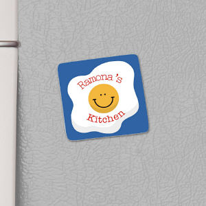 Personalized Smiley Egg Magnet