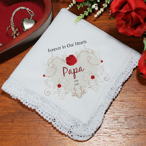 Personalized Memorial Handkerchief 319395