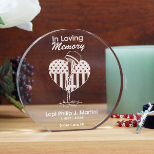 Engraved Military Memorial Keepsake