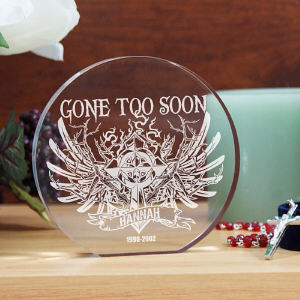 Engraved Gone Too Soon Keepsake