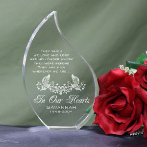 Engraved In Our Hearts Memorial Tear Keepsake 744642T