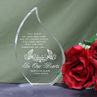 Engraved In Our Hearts Memorial Tear Keepsake