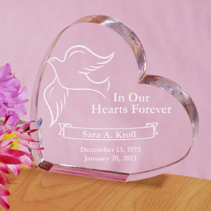 Engraved In Our Hearts Forever Heart Keepsake