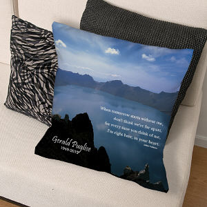 Personalized Memorial Throw Pillow