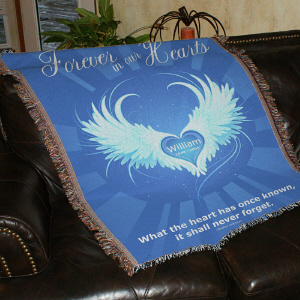 Personalized Forever In Our Hearts Throw Blanket 83038415