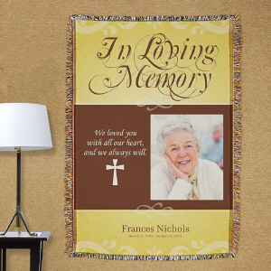 Personalized In Loving Memory Photo Throw Blanket
