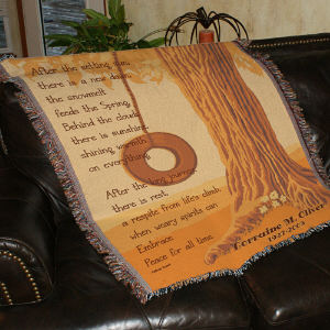 Personalized Memorial Throw Blanket 83062525
