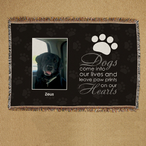 Personalized Pet Memorial Throw Blanket