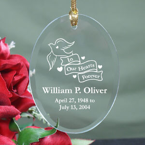 Engraved In Our Hearts Forever Ornament